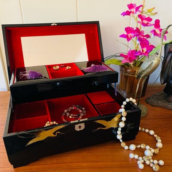 VTG Japanese Music Jewelry Box